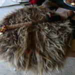Rahmentrommel, Material: Ziegenhaut mit Haar