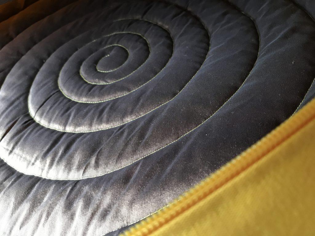 Innenleben einer Trommeltasche mit grosser Spirale
